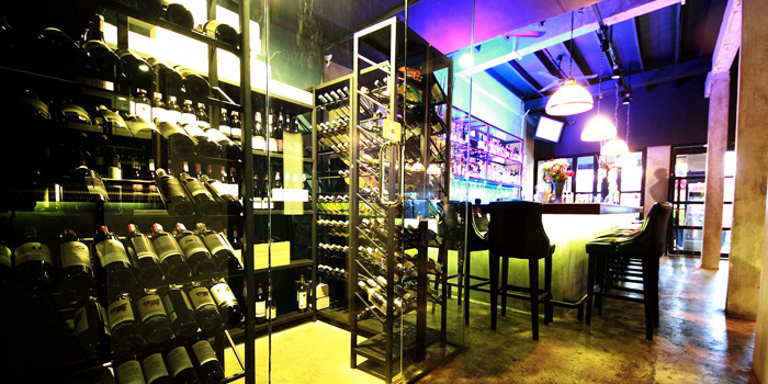 Wine Cellar of Blend Bistro & Wine Bar at 531-533 Sukhumvit Rd Khlong Toei Nuea, Watthana Bangkok