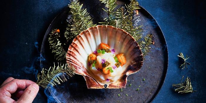 Hokkaido Scallop Tartar with Sea Cavier from Anti:dote at Fairmont Singapore in City Hall, Singapore