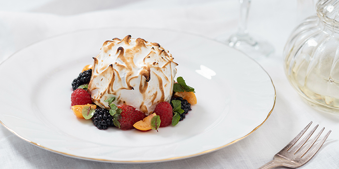 Baked Alaska from The White Rabbit serving Modern European cuisine in Dempsey, Singapore