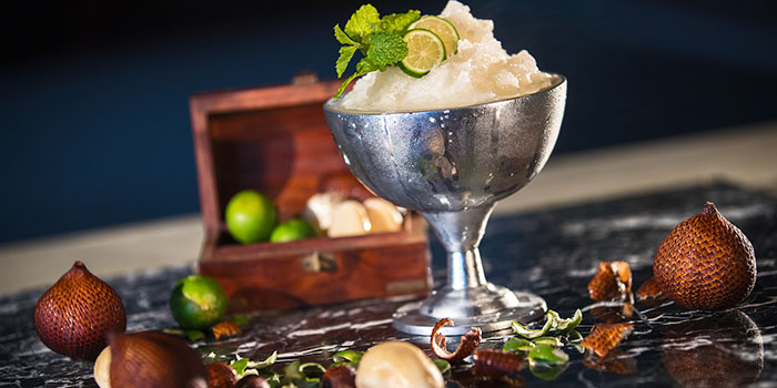 Dirty Snake Fruit Martini from Double Ikat Restaurant at Uluwatu, Bali