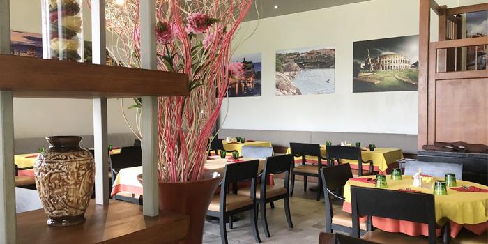 Interior of Leo & Mas Ristorante Italiano E Pizzeria in Patong, Phuket, Thailand.