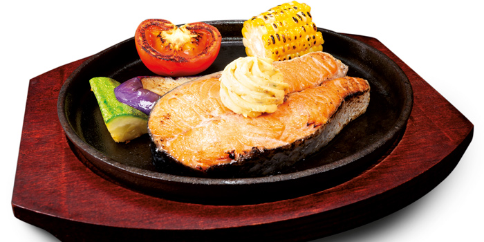 Norwegian Salmon Steak, Mall Café, Tsim Sha Tsui, Hong Kong