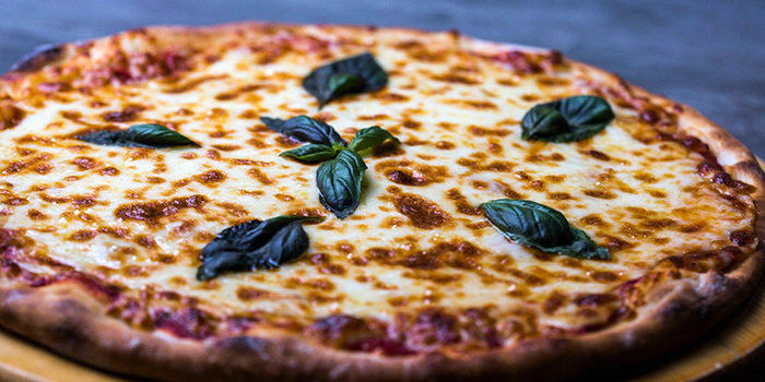 Cheese Pizza from Al Capone's Sports Bar + Dining at Kallang Wave Mall in Kallang, Singapore