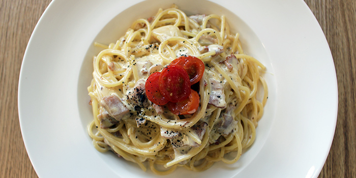 Carbonara from Canine Cafe in Thomson, Singapore
