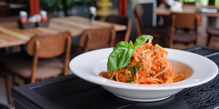Crab Meat Marinara Spaghetti from Cheval Cafe Bar Bistro at Singapore Turf Club Riding Centre in Woodlands, Singapore