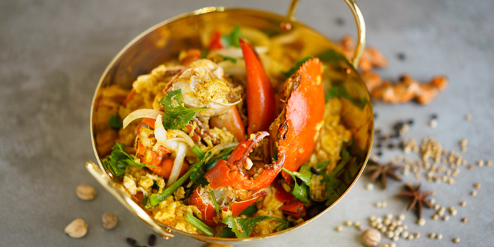 Stir Fried Crab with Yellow Curry from Party House One at Siam@Siam Design Hotel Bangkok 865 Rama 1 Road Wang Mai, Patumwan Bangkok