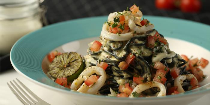 Calamari Squid Ink Pasta, The Pantry, Tsim Sha Tsui, Hong Kong