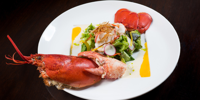 Canadian Lobster Salad from Koi Restaurant and Lounge at 39th floor, Sathorn Square Building 98 North Sathorn Road Silom, Bangrak Bangkok
