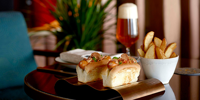 Singdog & MO BAR Pilsner from MO BAR at Mandarin Oriental Singapore in City Hall, Singapor