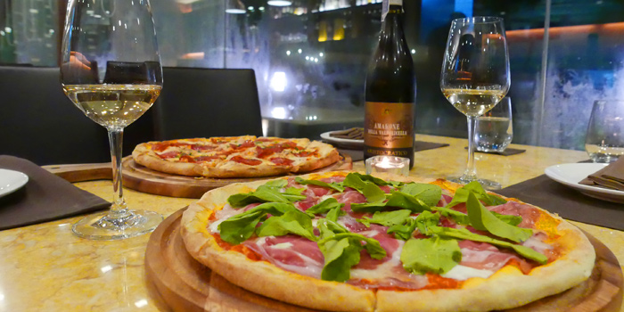 Selection of Pizza from Brunello at 15 Soi Rama IX 58 Suanluang Bangkok