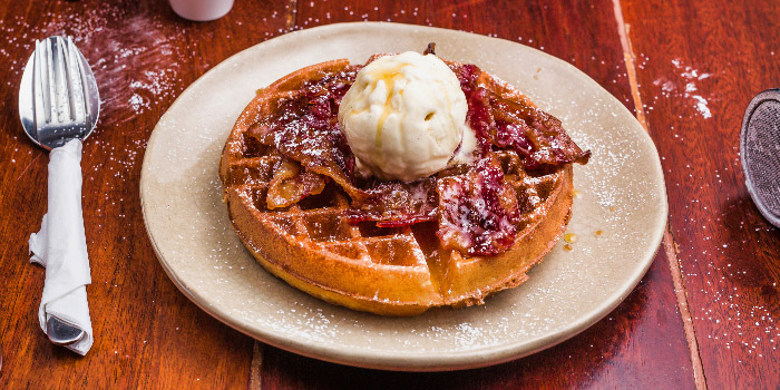 Candied Bacon Waffle from Columbus Coffee Co. in Thomson, Singapore