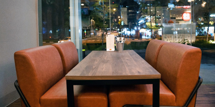 Couch Seats of Morettino Cafe at 100 AM in Tanjong Pagar, Singapore