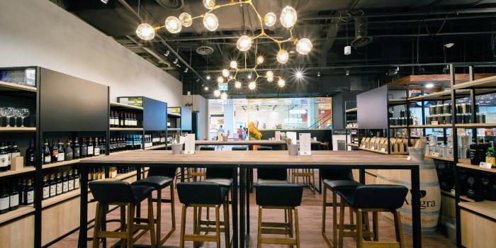 Interior of Morettino Cafe at 100 AM in Tanjong Pagar, Singapore