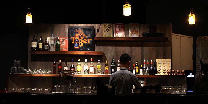 Interior of San Lou Lifestyle Bar at NTU Alumni Club in Buona Vista, Singapore