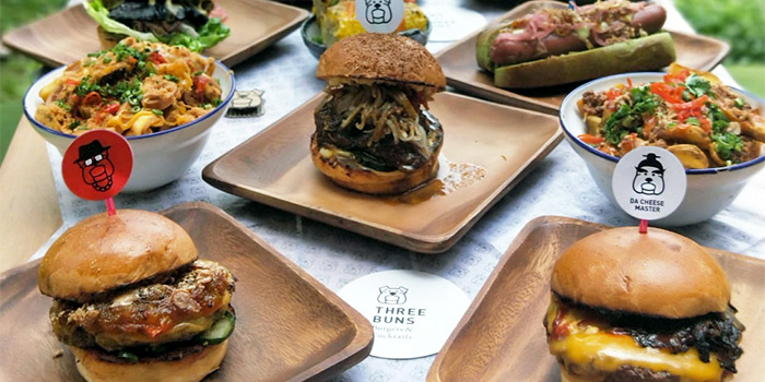 Signature Burgers from Three Buns Quayside in Robertson Quay, Singapore