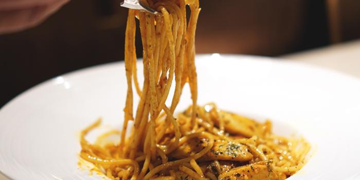 Laksa Spaghetti from Three Degree Cafe at NTU Alumni Club in Buona Vista, Singapore