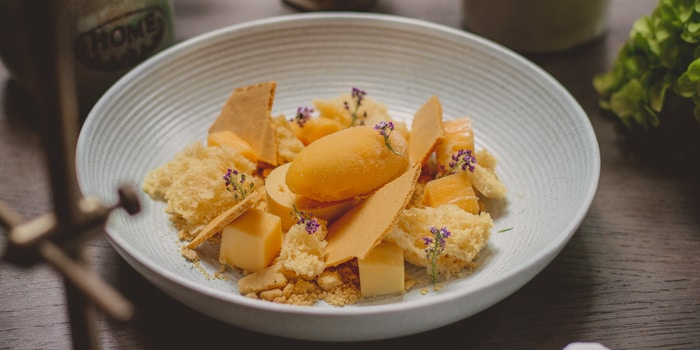 Texture of Mango at Cassis Kitchen