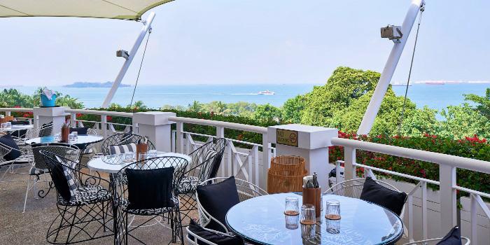 Outdoor Seating of Panamericana at Sentosa Golf Club in Sentosa, Singapore