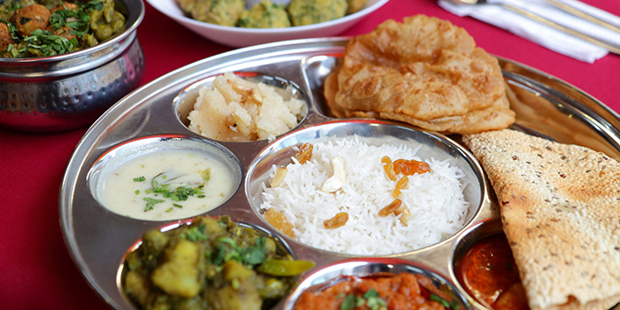 Gujarati Thali from Shivam Restaurant in Little India, Singapore