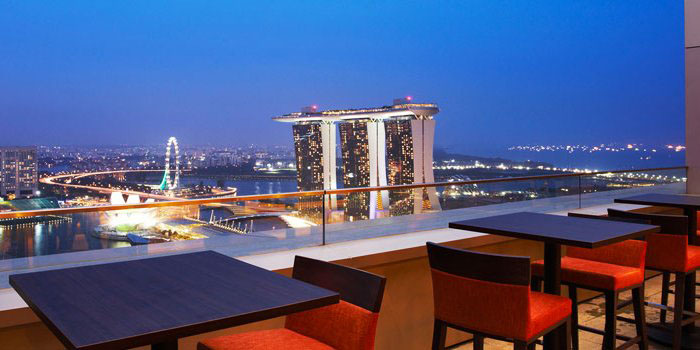 Bar View of LeVeL33 in Marina Bay Financial Centre in Marina Bay, Singapore