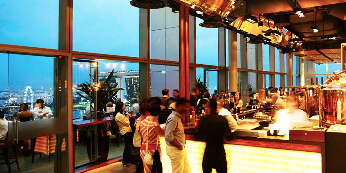 Bar of LeVeL33 in Marina Bay Financial Centre in Marina Bay, Singapore